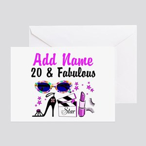 HAPPY 20TH BIRTHDAY Greeting Card